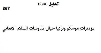 تحليل CSRS – الإصدار: 367 (18 مارس 2021)