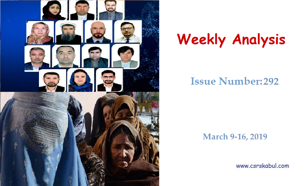 Weekly Analysis – Issue Number 292 (March 9-16, 2019)