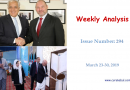 Weekly Analysis – Issue Number 294 (March 23-30, 2019)