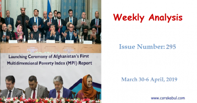 Weekly Analysis – Issue Number 295(March 30-6 April, 2019)