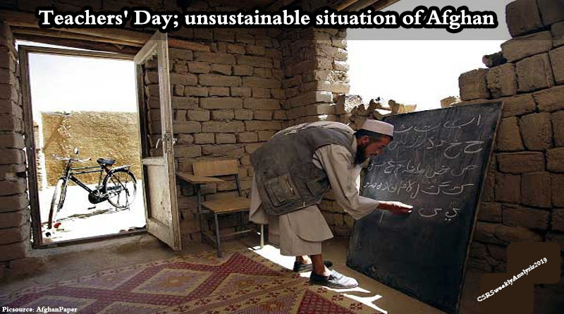 Teachers' Day; unsustainable situation of Afghan teachers