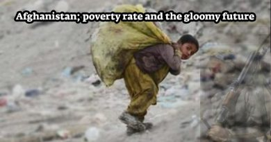 Afghanistan; poverty rate and the gloomy future