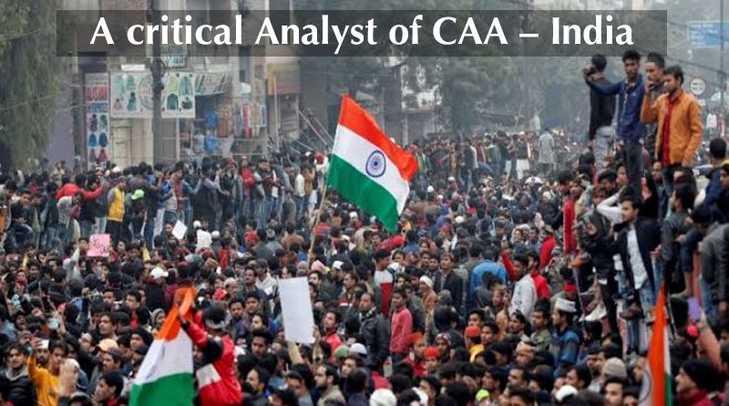 A critical analysis of CAA- India