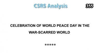 CSRS Analysis – Issue Number 355 (20 Sep 2020)